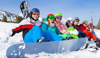 Snowboard-Kursklassen